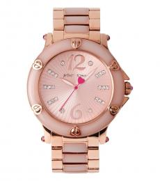 Betsey Johnson Rose Gold Blush Epoxy Watch