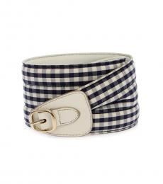 Blue Logo Waist Belt
