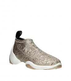 Gold Light Jump Glitter Sneakers