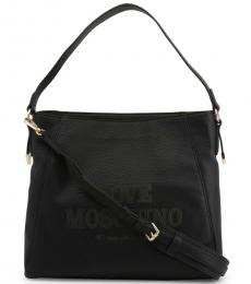 Love Moschino Black Made With Love Large Hobo