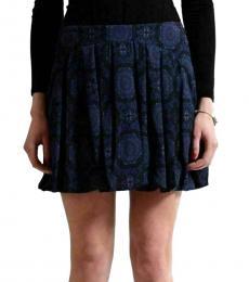 Versus Versace Blue Pleated Mini Skirt