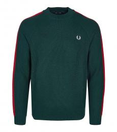 Fred Perry Teal Logo Embroidery Sweater