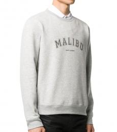 Grey Malibu Print Sweatshirt