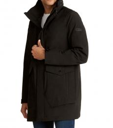 Black Pawling Fly Front Jacket
