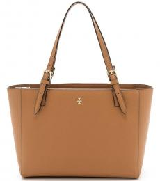 Tory Burch Brown Small Buckle Large Tote