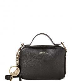 Versace Collection Black Top-Zip Small Crossbody