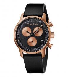 Black City Chronograph Watch