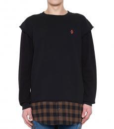 Marcelo Burlon Black Dogo Long Sweatshirt