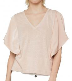 Light Pink Drape Sleeve Top