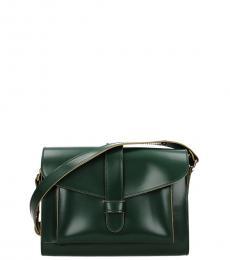 Marni Emerald Solid Medium Messenger Bag