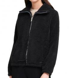 DKNY Black Faux Sherpa Jacket