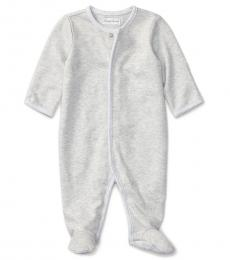 Ralph Lauren Baby Girls Grey Interlock Coverall