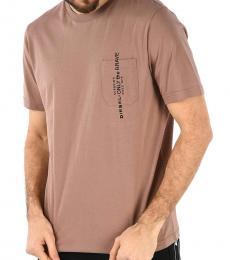 Diesel Brown Pocket Printed T-Shirt