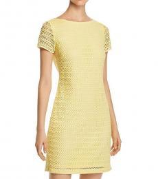 Yellow Lace Sheath Dress