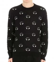 Black Maglioncino Eye Sweater