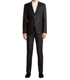 Emporio Armani Black Satorial Notch Wool Suit