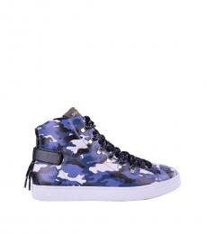 Dolce & Gabbana Blue Camo Print Sneakers