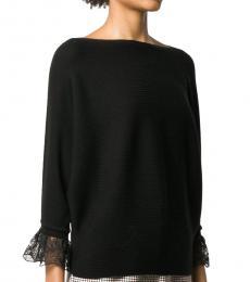 Chloe Black Wool Embroided Sweater