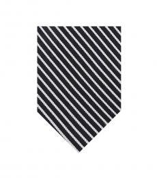 Calvin Klein Oxford Black Pinstripe Tie