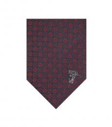 Red Geometric Tie