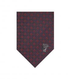 Versace Red Geometric Tie