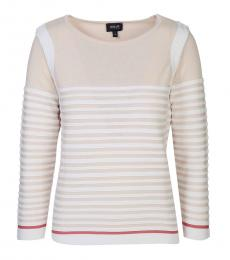 Rose Crew Neck Striped Sweater