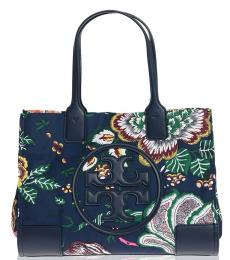 Tory Burch Blue Ella Floral Medium Tote