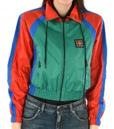 Multi color Windbreaker Crop Jacket