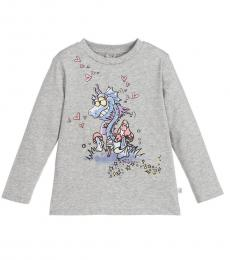 Stella McCartney Girls Grey Dragon T-Shirt