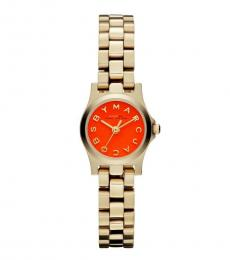 Marc Jacobs Rose Gold Orange Dial Watch