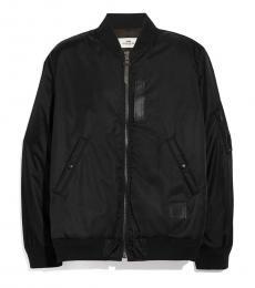 Coach Black Nylon Solid Jacket