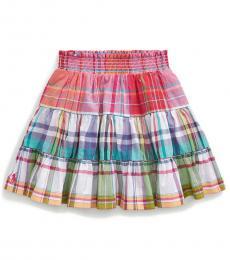 Ralph Lauren Little Girls Multi Tiered Madras Skirt
