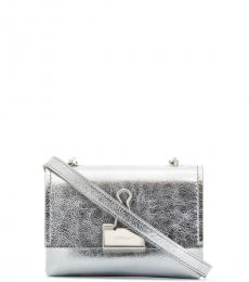 Off-White Silver Binder Clip Mini Crossbody