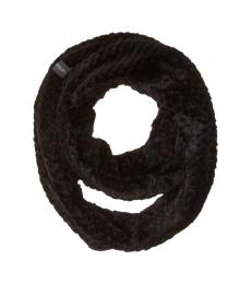 Calvin Klein Black Textured Faux Sherpa Infinity Scarf