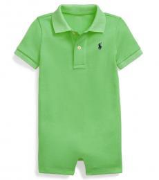 Ralph Lauren Baby Boys Course Green Interlock Polo Shortall