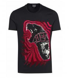 Black Embellished Logo T-Shirt