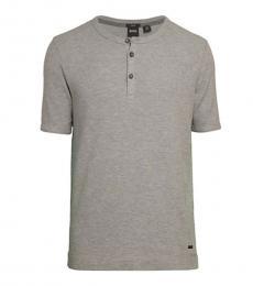 Hugo Boss Grey Trixer Henley T-Shirt