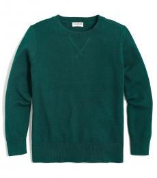 Boys Academic Green Crewneck Sweater