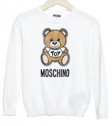 Moschino Boys White Teddy Sweatshirt
