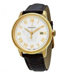 Versace Brown White Dial Watch