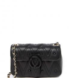 Mario Valentino Black Poisson Quilted Small Shoulder Bag