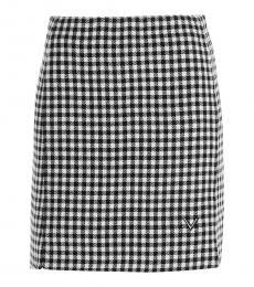 Valentino Garavani Blackwhite Gingham Skirt