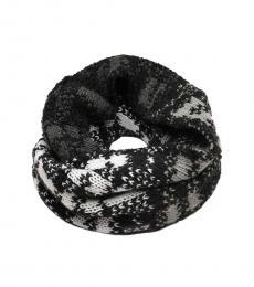 Emporio Armani Black Knit Logo Scarf