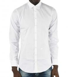 Dsquared2 White Spread Collar Shirt