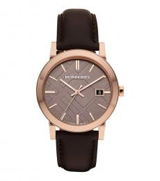Burberry Dark Brown Classic Watch
