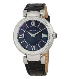 Versace Black Leda Logo Watch