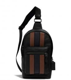 Coach Black Saddle/Midnight Medium West Pack