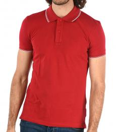Red Slim Fit Pique Polo