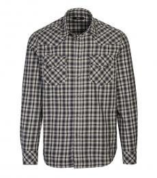 Diesel Grey Classic Check Shirt