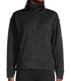 DKNY Black Funnelneck Sweatshirt